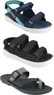 Auvio Men Blue, Black, Grey Sandals
