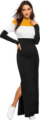dyrectdeals Women Maxi Multicolor Dress