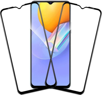 worldvery Edge To Edge Tempered Glass for RealMe Narzo 30A(Pack of 2)