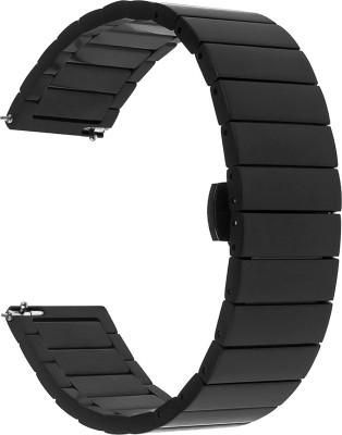 ACM Watch Strap Stainless Steel Metal 22mm Compatible with AMAZFITGtr2 ( Smartwatch Belt Matte Finish Luxury Band Black) WSM5F22BK1012N1 Smart...