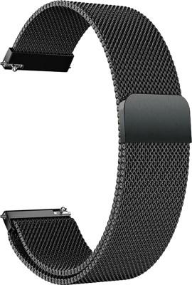 ACM WSM4M22BK1223N2 Watch Strap Magnetic Loop 22mm for Below Compitable Smartwatch Models (Luxury Metal Chain Band Black) Smart Watch Strap(Black)