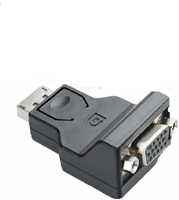 microware TV out Cable Display Port Male to VGA Female Adapter Converter  Black  Black, For Computer microware Mobile Cables