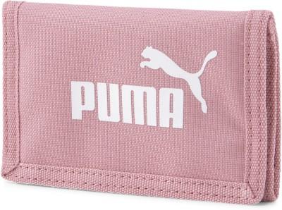 PUMA Men Pink Jute Wallet 4 Card Slots PUMA Wallets