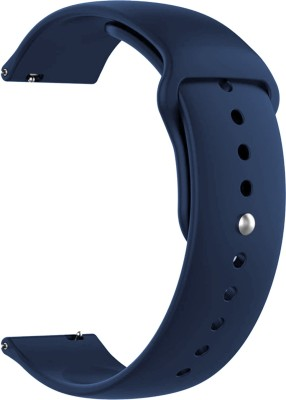ACM WSM2P20DBL1224N1 Watch Strap Silicone Belt 20mm for Given All Smartwatch Models (Sports Band Dark Blue) Smart Watch Strap(Blue)