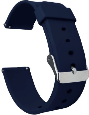ACM WSM7A20BL1224N1 Watch Strap Silicone Belt 20mm for Below Suitable Smartwatch Models (Casual Classic Band Blue) Smart Watch Strap(Blue)