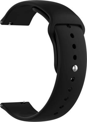 ACM Watch Strap Silicone Belt 22mm for Samsung Galaxy Watch 3 45mm ( Smartwatch Sports Band Black) Smart Watch Strap(Black)