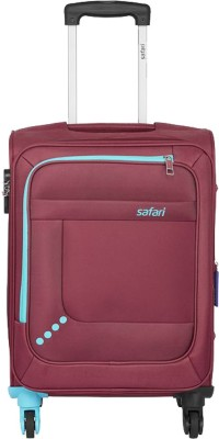 SAFARI STAR 55 4W RED Expandable Cabin Luggage   22 inch SAFARI Suitcases