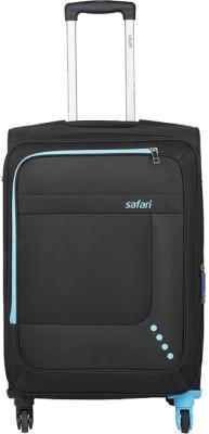 SAFARI STAR 55 4W BLACK Expandable Cabin Luggage - 22 inch