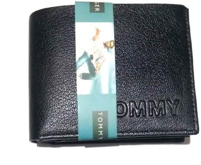 tommy hilfigher Men Black Genuine Leather Wallet 7 Card Slots