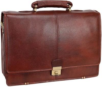 Leather villa Leather Office Messenger Bag for Men |15.6'' Laptop Compartment| |Expandable Features| Cross Body Shoulder Strap | 3 Digit...