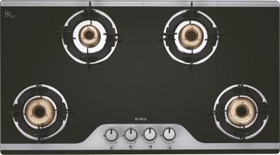 Elica Glass Manual Stove(4 Burners)