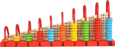 Trinkets   More Wooden Calculation Shelf   Abacus Counting Addition Subtraction   Maths Learning Educational Kit Toy for Kids 3+ years Multicolor Trin