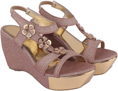 Digni Women Pink Wedges