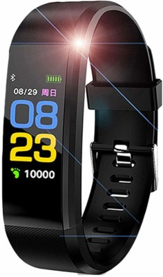 shoptoshop Bluetooth Smart Fitness Band Watch(Black Strap, Size : Standard)