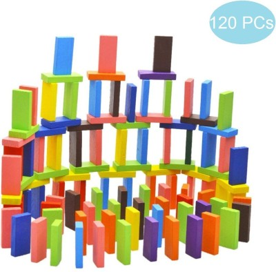 Blossom 120Pc Colorful Wooden Domino Multicolor Blossom Stacking Toys