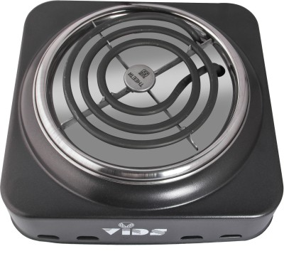 VIDS 1000W Portable Coil Stove/Coil Electric Stove for Cooking//Electric Cooking Heater | Steel Plate | Grey Radiant Cooktop(Black, Jog Dial)
