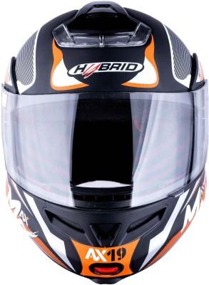 HEADFOX HY SMART BLUETOOTH H3 Blue Motorbike Helmet(Orange, Black, White)