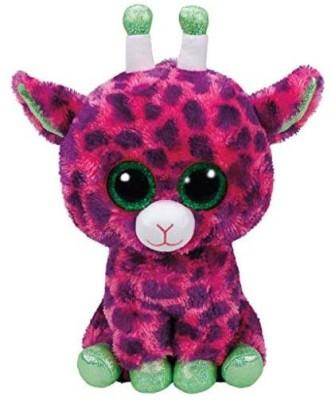 TY Gilbert   Giraffe Pk Med   13 inch Pink TY Soft Toys