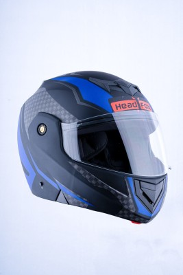 HEADFOX cx BLUETOOTH N1 Motorsports Helmet(Blue, Black, CAMO)