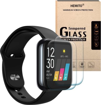 Hemito Edge To Edge Tempered Glass for Realme Fashion Smart Watch(Pack of 2)