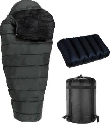 RHINOKraft Hiking & Camping Waterproof Inner Warmed + Air Travel Pillow Sleeping Bag