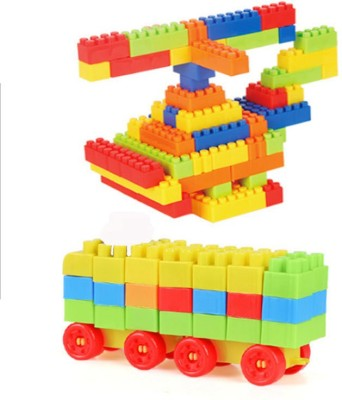 FRAONY Best Game for child Building Block Set Multicolor Blocks for Toddlers and Kids, Building Block for Boys and Girls ,100 Pieces, 20+ Activities (Multicolor) Best Quality For Blocks |100Pcs bulding Blocks | Educational Toys for Kids Assembling Shape.(Multicolor)