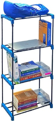Flipkart Perfect Homes Studio Metal Open Book Shelf(Finish Color - Space Blue)