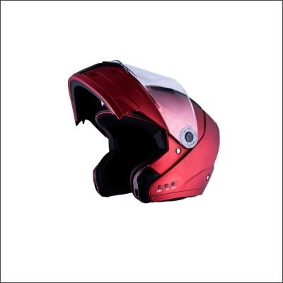 HEADFOX az Bluetooth N1 Motorbike Helmet(Red)