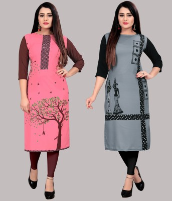 Modli 20 Fashion Women Printed Straight Kurta(Multicolor)