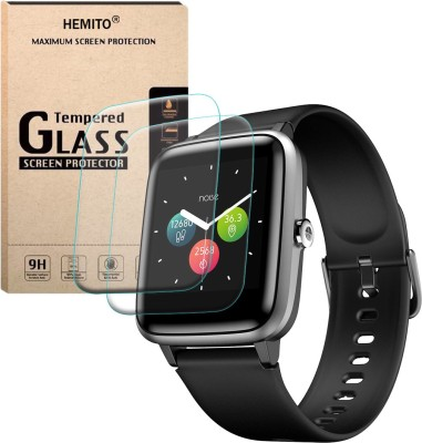 Hemito Edge To Edge Tempered Glass for Noise Colorfit Pro 2 Smart Watch(Pack of 2)
