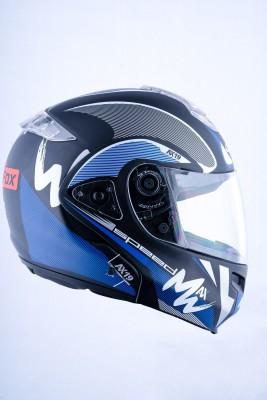 HEADFOX HY SMART BLUETOOTH H3 Blue Motorsports Helmet(Blue, Black)