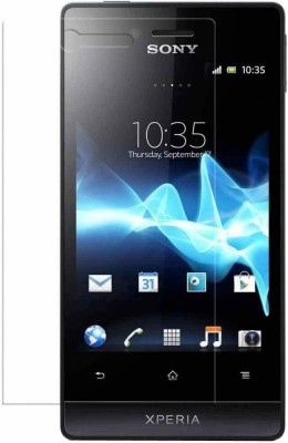 SHREEM TEMPERED Edge To Edge Tempered Glass for Sony Xperia Miro(Pack of 1)