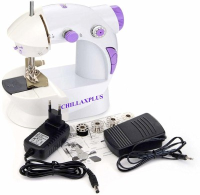 CHILLAXPLUS Mini Portable Electric Dual Speed Sewing Silai Machine with Foot Pedal, Adaptor and Working Light Electric Sewing Machine( Built-in Stitches 1)
