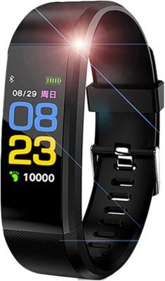 KUBA Smart Band Fitness Tracker Watch Heart(Black Strap, Size : Free)