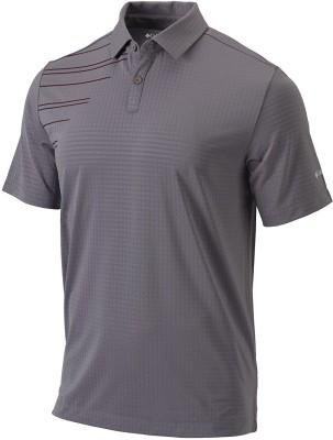 Columbia Solid Men Polo Neck Grey, Dark Green T-Shirt