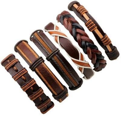 University Trendz Leather Bracelet(Pack of 6)