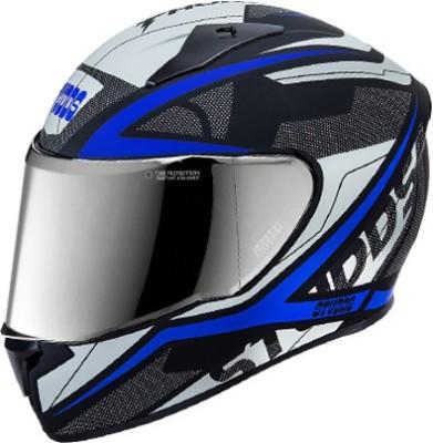 STUDDS THUNDER D4 M/VISOR MATT BLACK N1 SIZE L Motorsports Helmet(MATT BLACK, Blue)