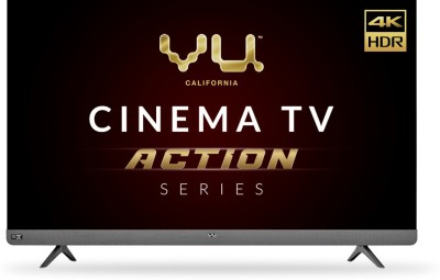 Vu Cinema TV Action Series 164 cm (65 inch) Ultra HD (4K) LED Smart Android TV with With Dolby Vision(65LX)