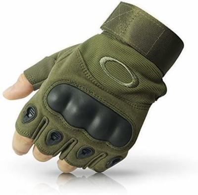 Zonkar Half Finger Hard Motorcycle Gloves Gym & Fitness Gloves Multi Riding Gloves(Green)