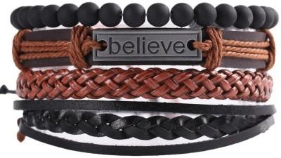 University Trendz Leather Bracelet Set