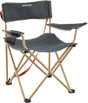 QUECHUA by Decathlon LARGE FOLDING CAMPING CHAIR - BASIC XL Chair(Black)