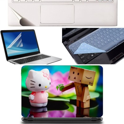 SDM 4in1 Combo of (toys prapos to each other)Laptop Skin with Palmrest Skin, Laptop Screen Guard and Key Guard for All Laptop - Notebook Combo Set Combo Set(Multicolor)