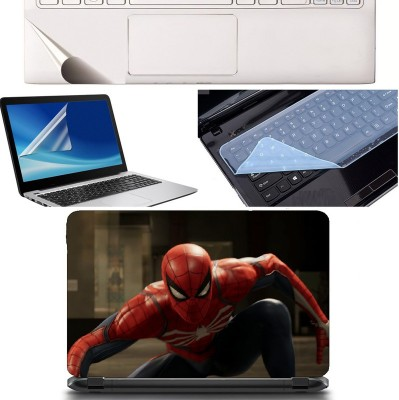 SDM 4in1 Combo of (toy 3d spider-man portrait)Laptop Skin with Palmrest Skin, Laptop Screen Guard and Key Guard for All Laptop - Notebook Combo Set Combo Set(Multicolor)