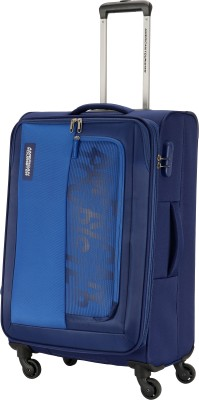 AMERICAN TOURISTER MONTANA SPINNER 69CM BLUE Expandable Check in Luggage   27 inch AMERICAN TOURISTER Suitcases