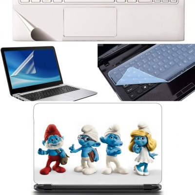 SDM 4in1 Combo of (cute toys)Laptop Skin with Palmrest Skin, Laptop Screen Guard and Key Guard for All Laptop - Notebook Combo Set Combo Set(Multicolor)