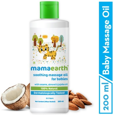 Mamaearth Soothing Baby Massage Oil, with Sesame, Almond & Jojoba Oil - 200ml(200 ml)