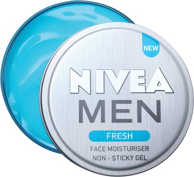 NIVEA Men Fresh Face Moisturizer Gel, Non Sticky & Light Moisturization(75 ml)