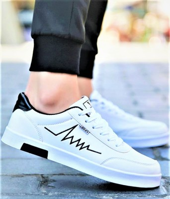 luxury fashion Luxury Fashionable casual sneaker shoes and partywear shoes Casuals For Men(White)