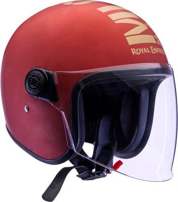 ROYAL ENFIELD Open Face MLG Helmet Motorbike Helmet(Matt Maroon)