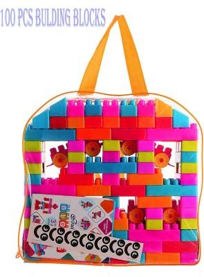 BOZICA 100 PCS. Building blocks,creative learning educational toy for kids puzzle assembling shape building unbreakable toy set(100 Pieces)